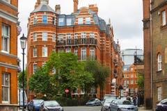 豪华公寓在肯辛顿 中心伦敦居民住房 伦敦英国 库存照片