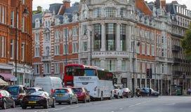豪华公寓在肯辛顿 中心伦敦居民住房 伦敦英国 库存图片