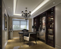 豪华公寓房的研究在上海 库存图片