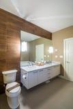 豪华卫生间的室内设计 免版税库存照片