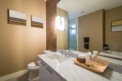 豪华卫生间的室内设计 免版税图库摄影