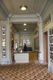 豪华历史的旅馆大厅 免版税库存照片