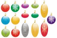 豪华圣诞节的装饰 库存例证