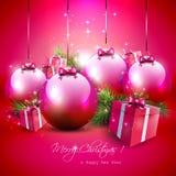 豪华圣诞节背景 免版税库存图片