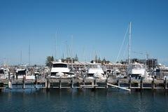 豪华小游艇船坞在Fremantle 图库摄影