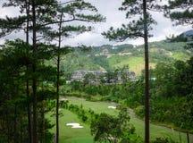豪华山区度假村在大叻,越南 免版税库存照片