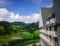 豪华山区度假村在大叻,越南 免版税库存图片