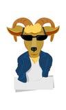 豪华山羊-样式羊羔  免版税库存照片