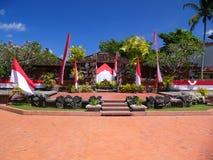 豪华巴厘岛的旅馆 库存照片