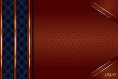 豪华布朗和蓝色葡萄酒典雅的背景 皇族释放例证