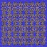 豪华异乎寻常的VINT 坛场种族金蓝色块 库存图片