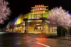 豪华戏院体育场11在萨利姆,俄勒冈 图库摄影