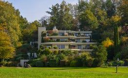 豪华房子在卢赛恩,瑞士 库存图片