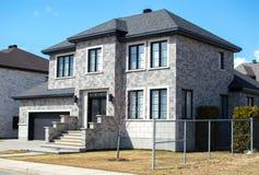 豪华房子在蒙特利尔,加拿大 库存照片