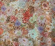 豪华抽象花卉背景,装饰墙壁 库存照片