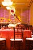 豪华接收设置表婚礼 图库摄影