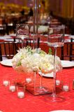 豪华接收设置表婚礼 免版税图库摄影