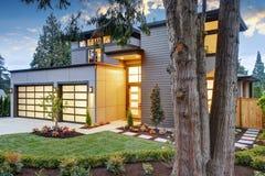 豪华新建工程家在Bellevue, WA 图库摄影