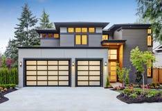 豪华新建工程家在Bellevue, WA 库存照片