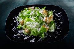 豪华新鲜的五颜六色的菜沙拉 图库摄影