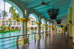 豪华旅游胜地在多米尼加共和国 图库摄影