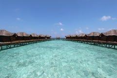 豪华旅游胜地在马尔代夫 免版税库存图片