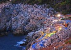 豪华旅游胜地在Capri海岛 免版税库存图片