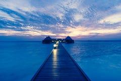 豪华旅游胜地Angaga Ari环礁 库存照片