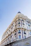 豪华旅馆修造的外部 法国建筑学 免版税库存照片