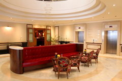 豪华旅馆大厅 免版税库存照片
