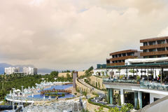 豪华旅馆手段力大无比在博德鲁姆,土耳其 免版税库存图片