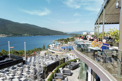 豪华旅馆手段在博德鲁姆,土耳其 免版税库存图片