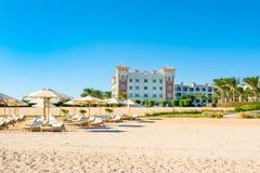 豪华旅馆风景在红海的 免版税库存图片