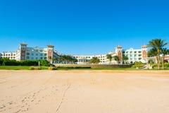豪华旅馆风景在红海的 免版税库存照片