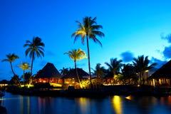 豪华日落在毛里求斯 免版税库存图片