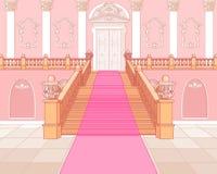 豪华楼梯在宫殿 免版税库存图片