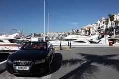 豪华汽车在Puerto Banus,西班牙 库存图片