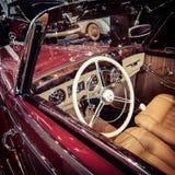豪华汽车奔驰车170S (W191)敞蓬车A客舱, 1950年 免版税库存图片
