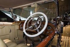 豪华汽车奔驰车Typ SS (超级体育)客舱, 1930年 库存照片