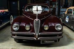 豪华汽车阿尔法・罗密欧6C 2500 S游览Coupe的Berlinetta, 1947年 免版税库存照片