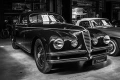 豪华汽车阿尔法・罗密欧6C 2500 S游览Coupe的Berlinetta, 1947年 库存照片