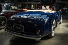 豪华汽车阿尔法・罗密欧6C 2500 SS Cabriolet, 1949年 库存图片
