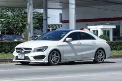 豪华汽车,野性白色奔驰车的CLA 180 库存图片