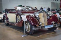 豪华汽车Horch 853A Cabriolet, 1938年 免版税库存照片