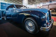 豪华汽车Hotchkiss安久2050年敞蓬车Worblaufen, 1950年 免版税图库摄影