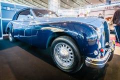 豪华汽车Hotchkiss安久2050年敞蓬车Worblaufen, 1950年 免版税库存图片