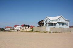 豪华海滨别墅海 在室外的海滩House.Beautiful内部 免版税库存图片