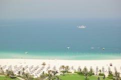 豪华海滩的旅馆 库存照片