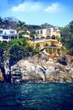 豪华海滨别墅在墨西哥 库存照片