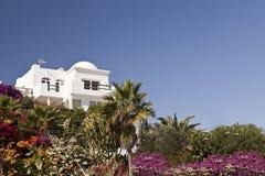 豪华海滩前的假日别墅 大西洋顶视图 图库摄影